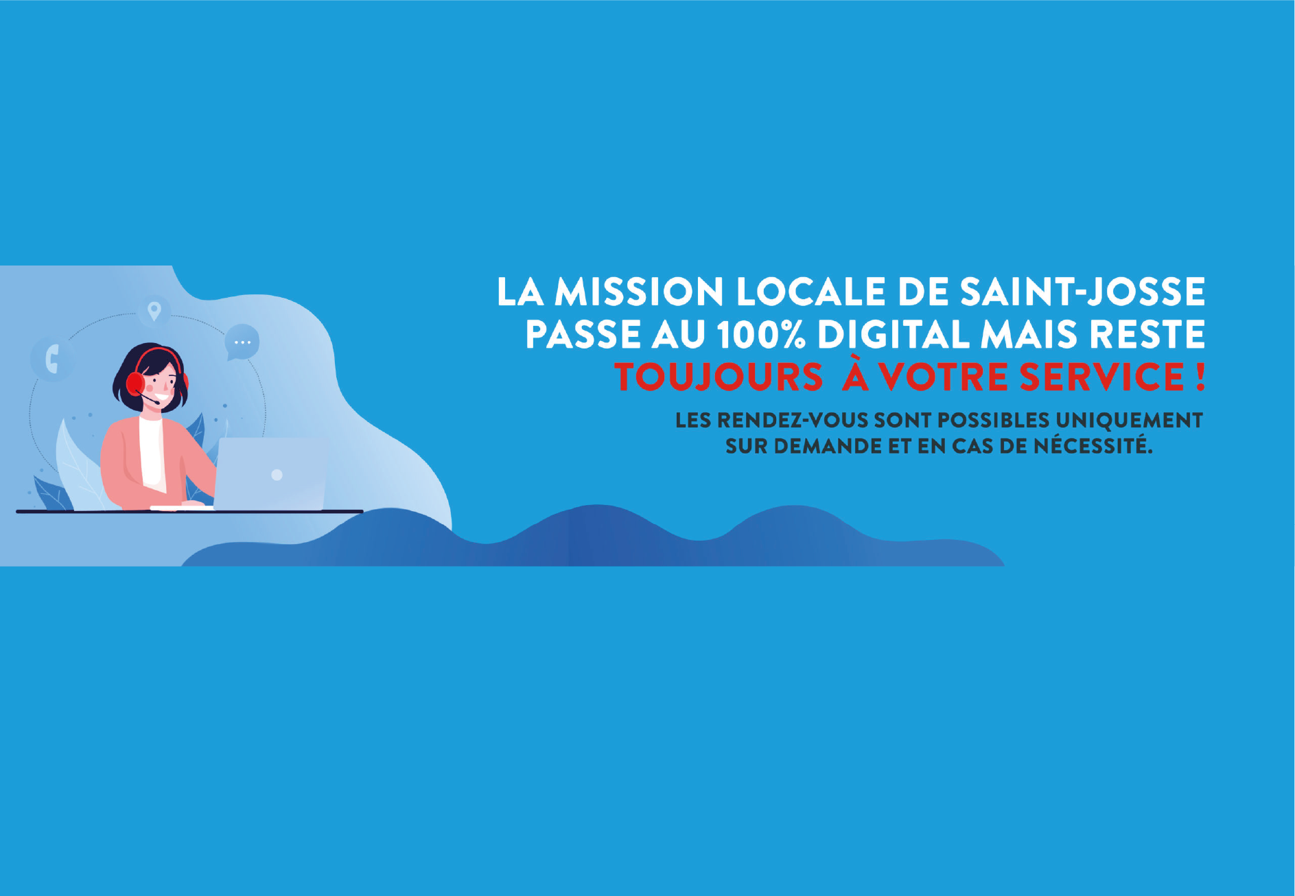 affiche mission locale 100% digitale