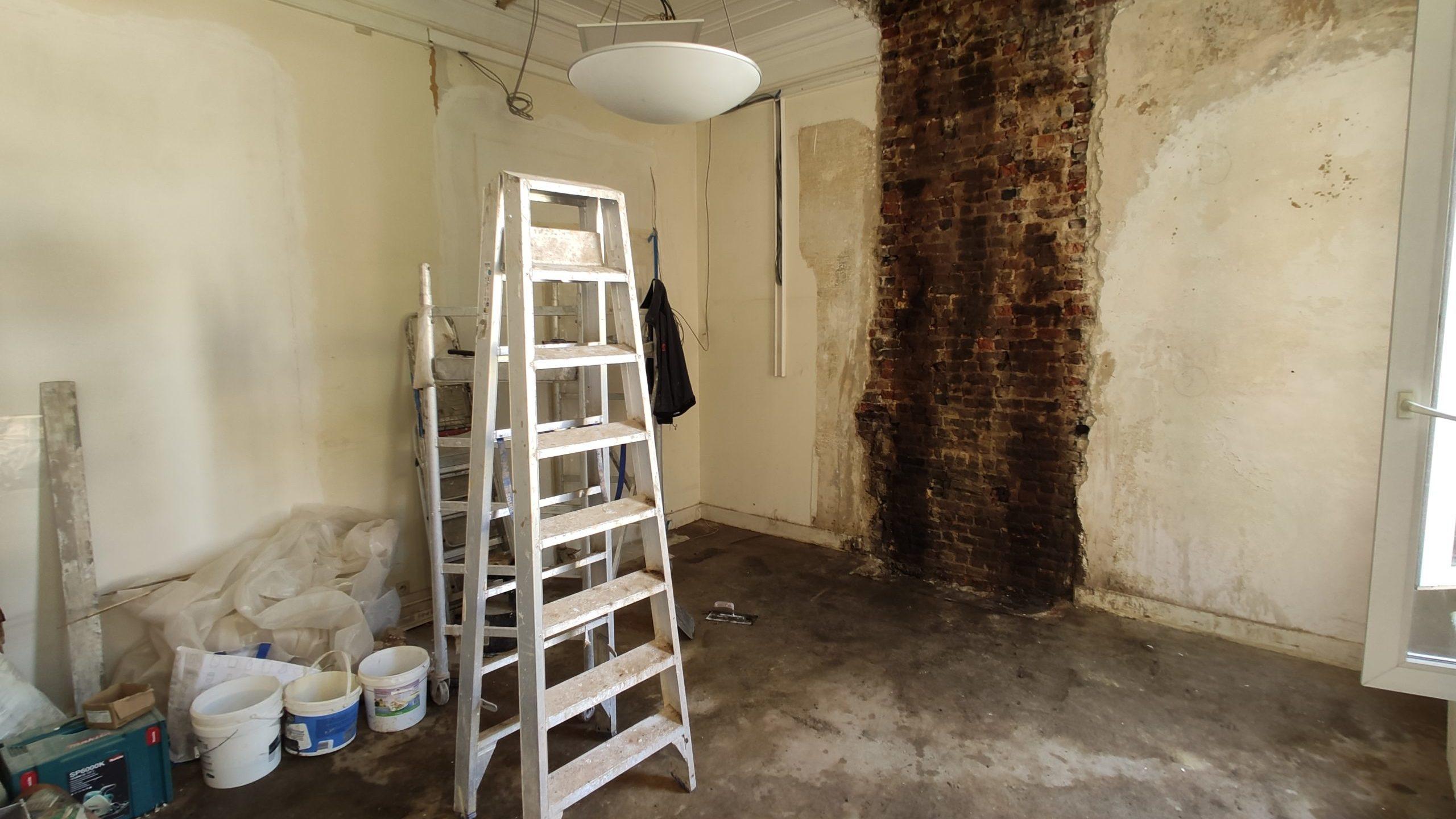 rénovation bureau avant