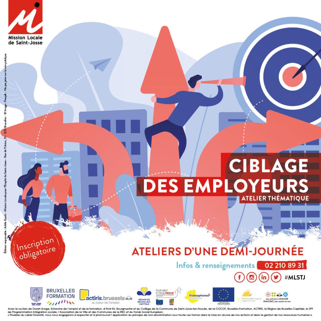 affiche ateliers thématiques - ciblage des employeurs