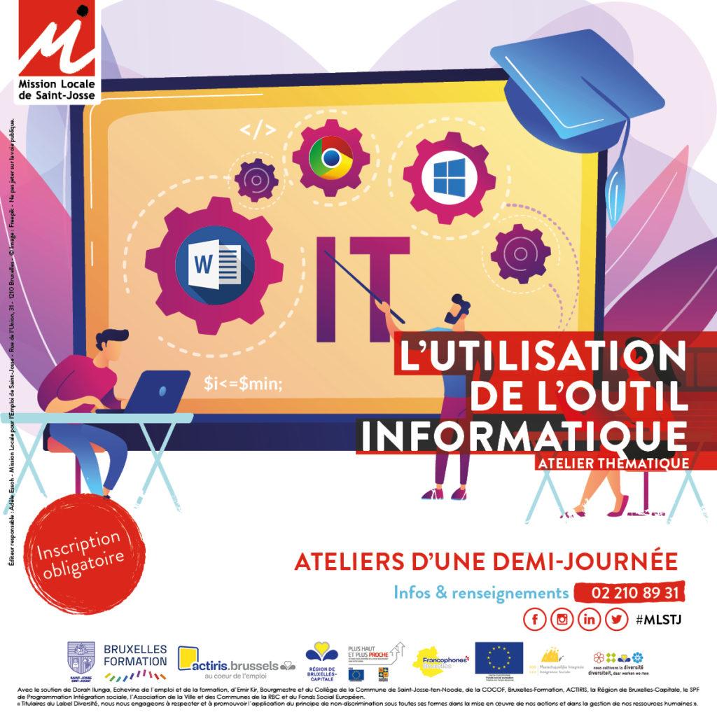 Affiche ateliers thématiques - informatique