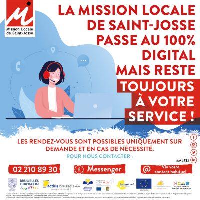 affiche mission locale 100%digitale
